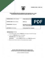 Hsm113-Food Service Management (Final Exam 2011-2012)