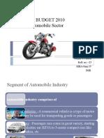 Impact of Bugdet 2010 on Automobile Sector...Sanjay Parmar