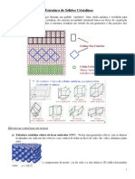 A Estrutura de Sólidos Cristalinos