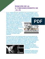 Transformación de La Violencia y Reconocimiento de Victimas Blog