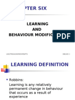 organisational behaviour Lesson 6