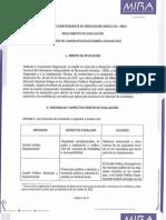 Reglamento de Evaluacion Seleccion de Candidatos 2015