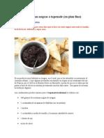 Pasta de Aceitunas Negras o Tapenade