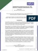 Resolución 005 de 2011 - Reposición de Gastos