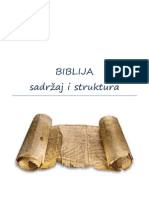 Biblija - struktura i sadzaj