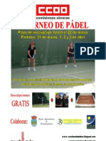 Cartel 5º Torneo Pádel CCOO A3