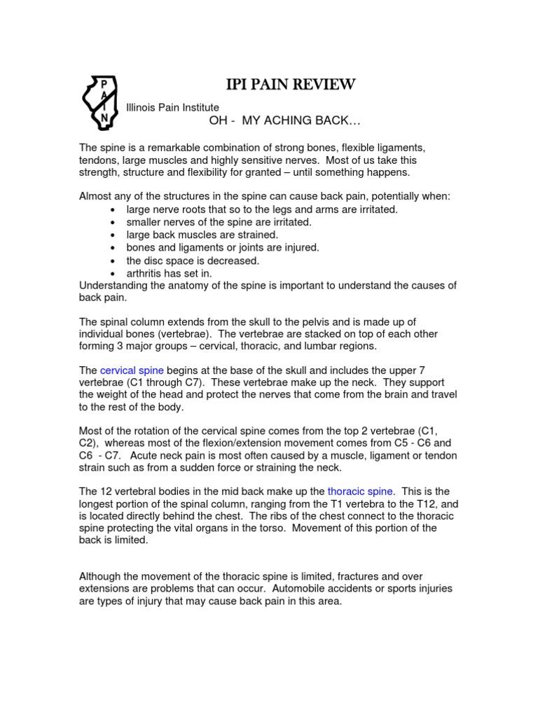 Oh My Aching Back | Vertebral Column | Vertebra