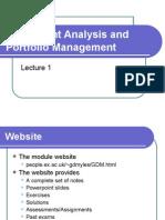 Analysis chandra security portfolio management pdf prasanna