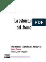 2-1 El Atomo. La Estructura Del Atomo.