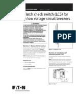 Remote Latch check switch