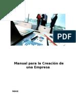 Manual Para La Creación de Una Empresa