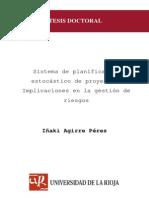 AGIRRE, Iñaki, Planificación Estocástica de Proyectos