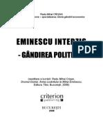 Eminescu Interzis. Gandirea Politica