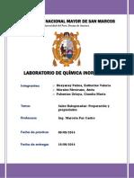 Informe 2 Química Inorgánica