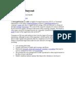 Management buyouts - Mergers | Leveraged Buyout | Debt
