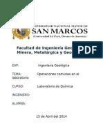 Informe 1 Del Laboratorio de Quimica