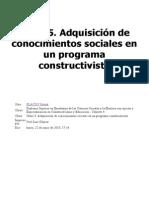 Clase 5. Adquisición de Conocimientos Sociales en Un Programa Constructivista