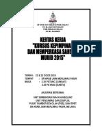KERTAS KERJA KURSUS KEPIMPINAN PENGAWAS 2015.doc