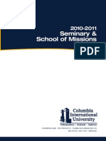 CIU Seminary Catalog 2010-2011