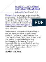Meet Hesham a Syed - An Eye Witness of Yusuf Kazzab Prophet Hood Claims