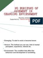 Emerging Horizons