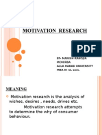 Motivation Research