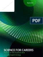 SCIENCE FOR CAREERS Report of the Science and Society Expert Group