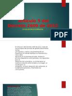 Artículo 5 Del Decreto 2609 de 2012
