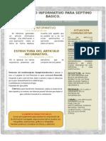 El Articulo Informativo Teoría y Práctica 7 Basico 2015