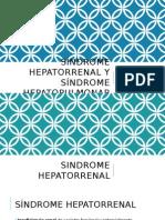 Síndrome Hepatorrenal y Síndrome Hepatopulmonar