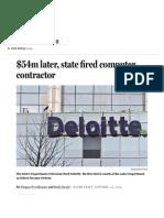 Massachusetts Fires Deloitte