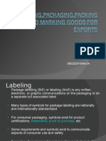 Packaging and Labelling
