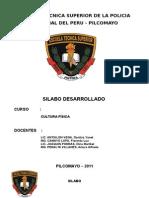Silabo II Semestre Cult Fisica Policia 2011