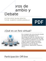 Foros de Intercambio y debate