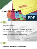 Confidencialidad en Salud e Investigación - PDF