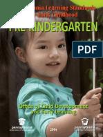 early learning standards - prekindergarten 2014