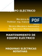 Mantenimiento de Equipo Electricov2013