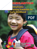 early learning standards - kindergarten 2010