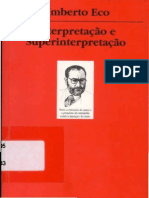 Umberto Eco Interpretacao e Superinterpretacao