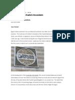 A Syndicate of the Prophet's Descendants