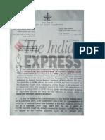 Letter to Manohar Parrikar
