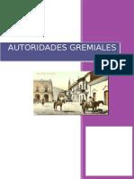 Historia Autoridades Gremiales