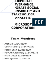 Corporate Governance at Microsoft Corporation