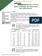 Materiales Los Andes, Productos _ Tubos y Perfiles de Acero Para Uso Estructural