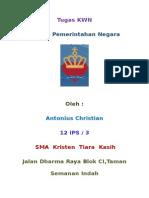 Tugas KWN ( Sistem Pemerintahan Negara Malaysia )