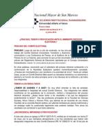 Acuerdo Institucional Sanmarquino N° 3 Mayo 2015