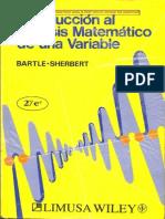Bartle-Introduccion Al Analisis Matematematico de Una Variable