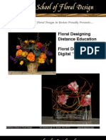 Catalog of E-book Digital Floral Design Learning Materials Available