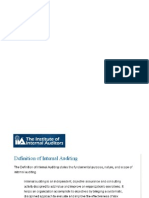 Definisi Internal Auditing
