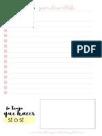 Listas de tareas imprimible
